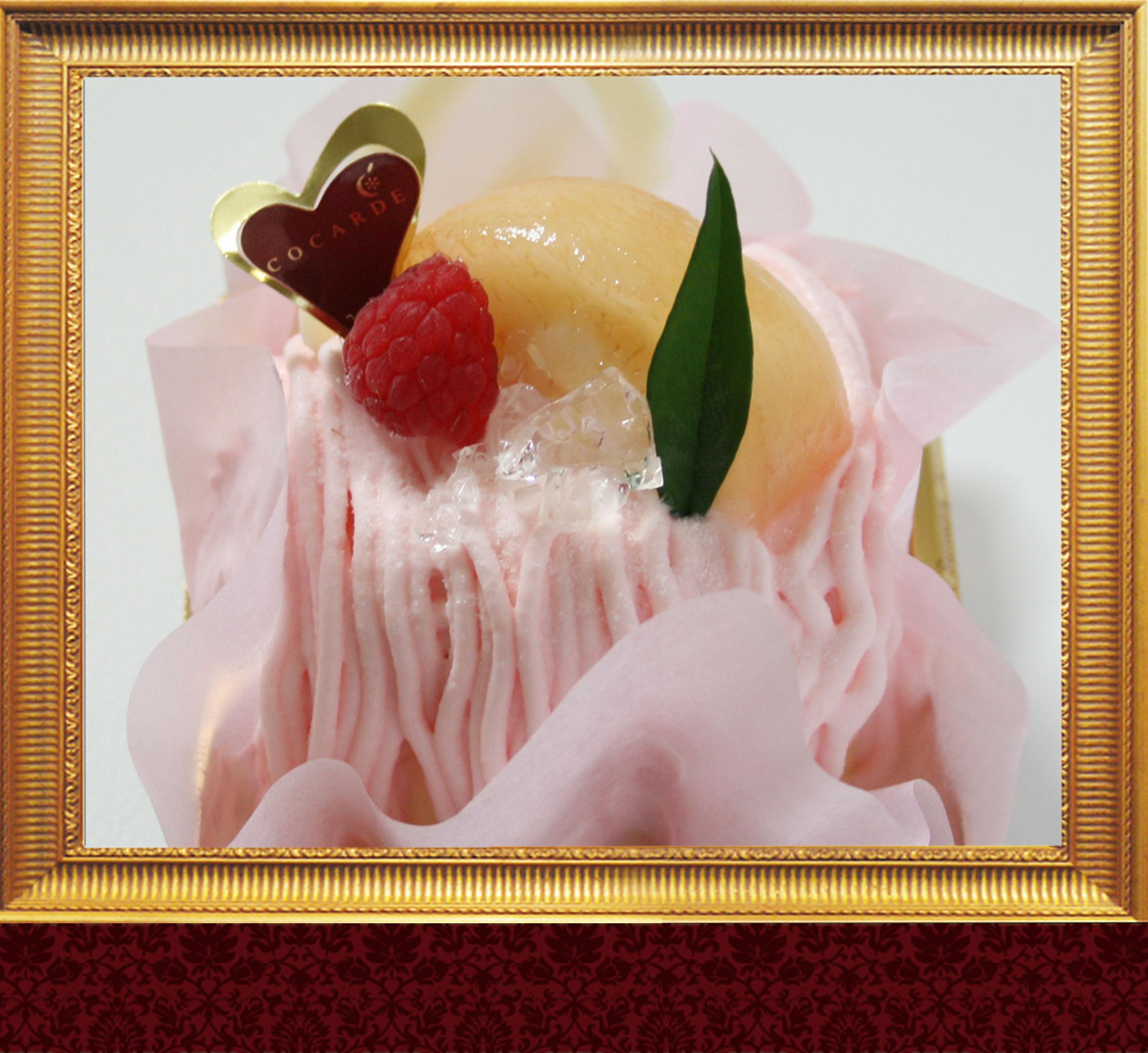 「桃のモンブラン」